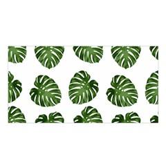 Leaf Pattern Seamless Background Satin Shawl