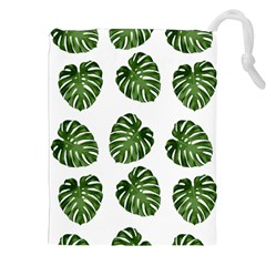 Leaf Pattern Seamless Background Drawstring Pouches (XXL)
