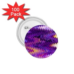 Purple And Yellow Zig Zag 1 75  Buttons (100 Pack)