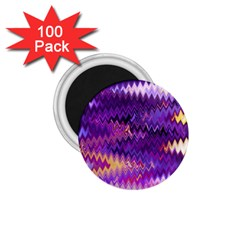 Purple And Yellow Zig Zag 1 75  Magnets (100 Pack)