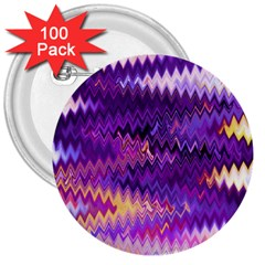 Purple And Yellow Zig Zag 3  Buttons (100 pack)