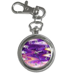 Purple And Yellow Zig Zag Key Chain Watches