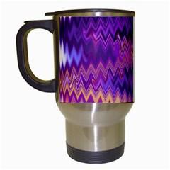 Purple And Yellow Zig Zag Travel Mugs (white)