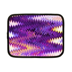 Purple And Yellow Zig Zag Netbook Case (small)