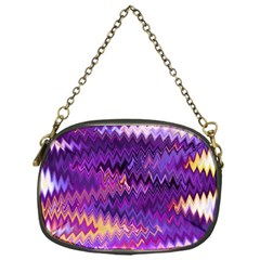 Purple And Yellow Zig Zag Chain Purses (One Side)