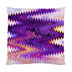 Purple And Yellow Zig Zag Standard Cushion Case (one Side)