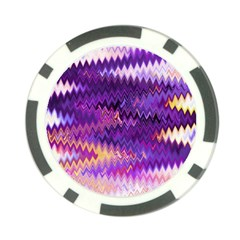 Purple And Yellow Zig Zag Poker Chip Card Guard (10 Pack)