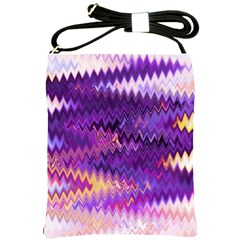 Purple And Yellow Zig Zag Shoulder Sling Bags