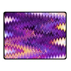 Purple And Yellow Zig Zag Fleece Blanket (small)