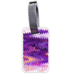Purple And Yellow Zig Zag Luggage Tags (One Side)