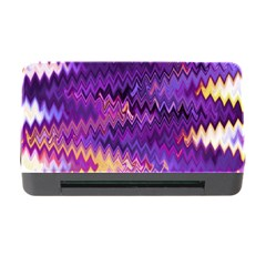 Purple And Yellow Zig Zag Memory Card Reader with CF
