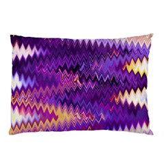 Purple And Yellow Zig Zag Pillow Case (two Sides)