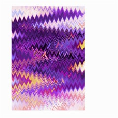 Purple And Yellow Zig Zag Large Garden Flag (two Sides)