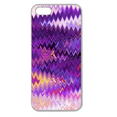 Purple And Yellow Zig Zag Apple Seamless iPhone 5 Case (Clear)