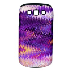 Purple And Yellow Zig Zag Samsung Galaxy S Iii Classic Hardshell Case (pc+silicone)
