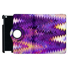 Purple And Yellow Zig Zag Apple iPad 2 Flip 360 Case