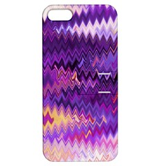 Purple And Yellow Zig Zag Apple Iphone 5 Hardshell Case With Stand