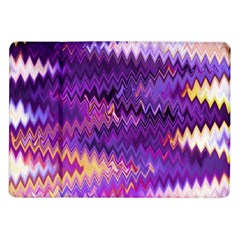 Purple And Yellow Zig Zag Samsung Galaxy Tab 10 1  P7500 Flip Case