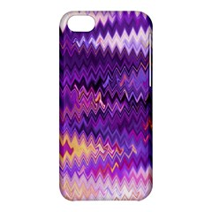 Purple And Yellow Zig Zag Apple Iphone 5c Hardshell Case