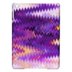 Purple And Yellow Zig Zag Ipad Air Hardshell Cases