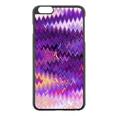Purple And Yellow Zig Zag Apple Iphone 6 Plus/6s Plus Black Enamel Case