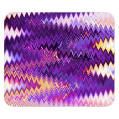 Purple And Yellow Zig Zag Double Sided Flano Blanket (small)
