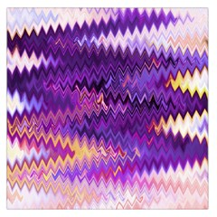 Purple And Yellow Zig Zag Large Satin Scarf (square)