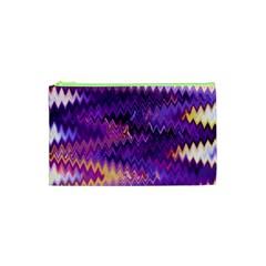 Purple And Yellow Zig Zag Cosmetic Bag (XS)