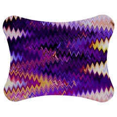 Purple And Yellow Zig Zag Jigsaw Puzzle Photo Stand (Bow)