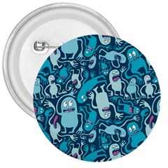 Monster Pattern 3  Buttons