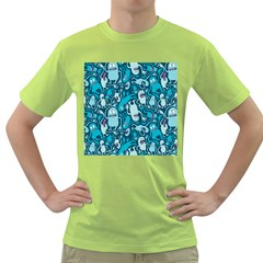 Monster Pattern Green T-Shirt