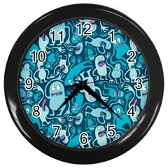 Monster Pattern Wall Clocks (black)