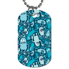 Monster Pattern Dog Tag (one Side)