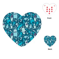 Monster Pattern Playing Cards (heart)