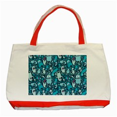 Monster Pattern Classic Tote Bag (Red)