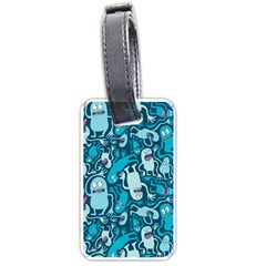 Monster Pattern Luggage Tags (one Side)