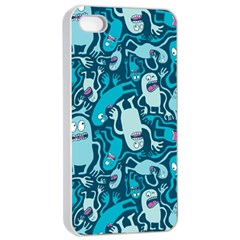 Monster Pattern Apple iPhone 4/4s Seamless Case (White)