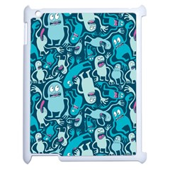 Monster Pattern Apple iPad 2 Case (White)