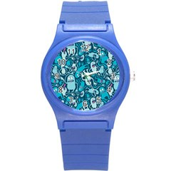 Monster Pattern Round Plastic Sport Watch (s)