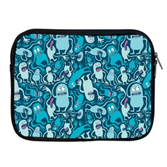 Monster Pattern Apple Ipad 2/3/4 Zipper Cases