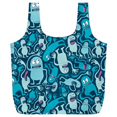 Monster Pattern Full Print Recycle Bags (L)
