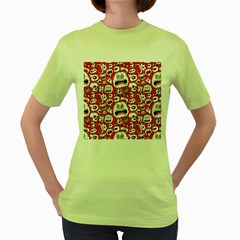 Another Monster Pattern Women s Green T-Shirt