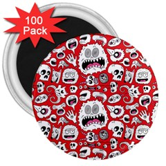 Another Monster Pattern 3  Magnets (100 Pack)