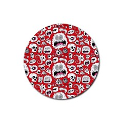 Another Monster Pattern Rubber Coaster (Round)