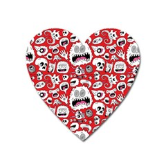 Another Monster Pattern Heart Magnet