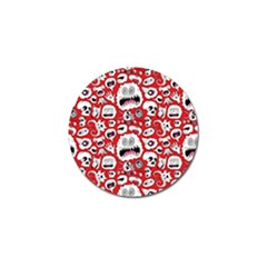 Another Monster Pattern Golf Ball Marker (4 pack)