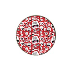 Another Monster Pattern Hat Clip Ball Marker (10 pack)