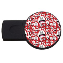 Another Monster Pattern Usb Flash Drive Round (4 Gb)