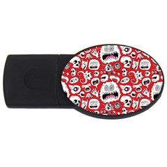 Another Monster Pattern USB Flash Drive Oval (4 GB)