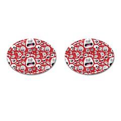 Another Monster Pattern Cufflinks (Oval)